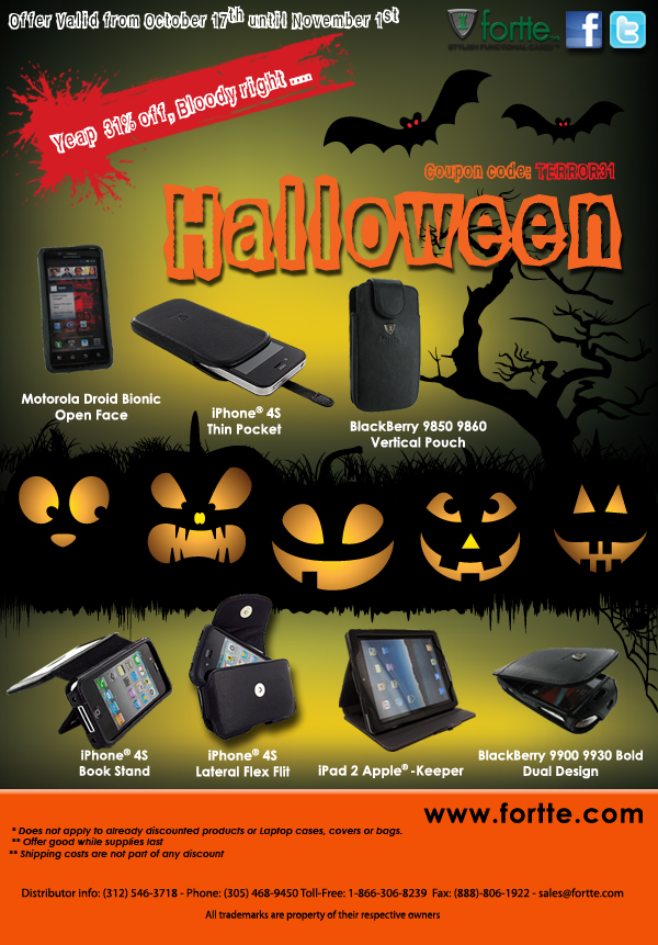 Bloody Halloween Discount at Fortte