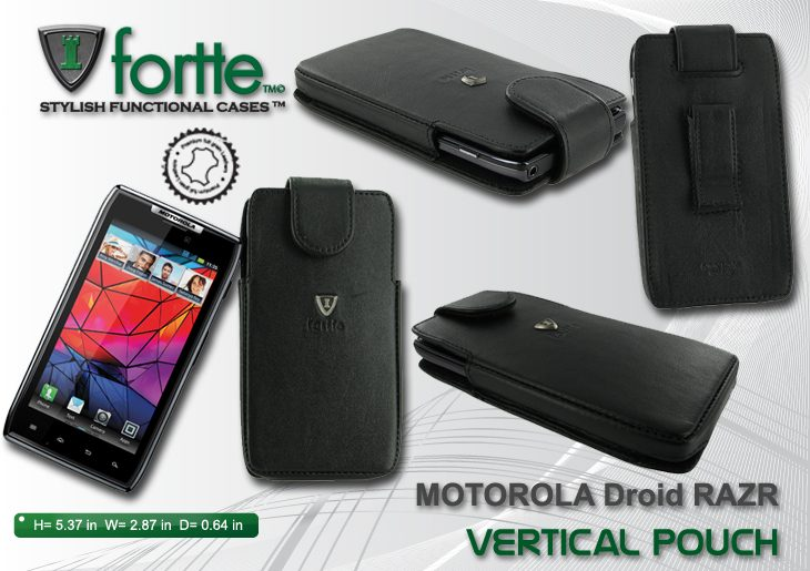 Motorola Droid RAZR - Vertical Pouch