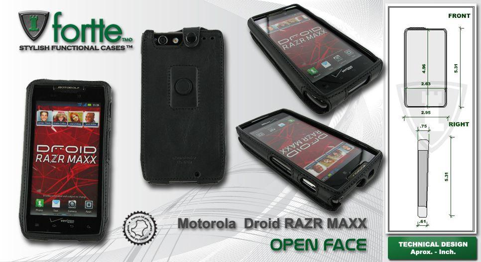 Leather case for Motorola Droid Razr Maxx